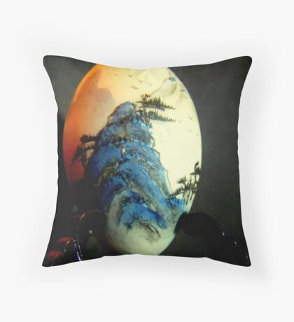 Chinese egg. Throw Pillow