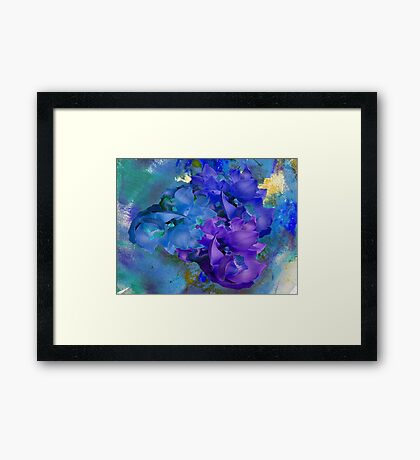 Blue Orchids Framed Print