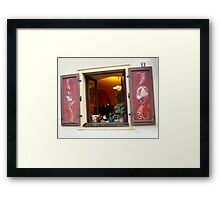 Prague Bar Window 1 Framed Print