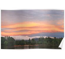 Sunset over Mirror Lake Poster