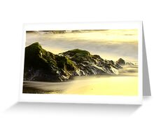 Beach Rock Exposure - Fort Bragg, CA Greeting Card