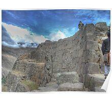 Walking To The Clouds - Ollantaytambo, Peru Poster