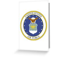 USAF Coat of Arms Greeting Card