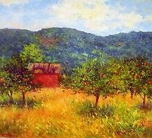 Apple trees in Virginia by Julia Lesnichy