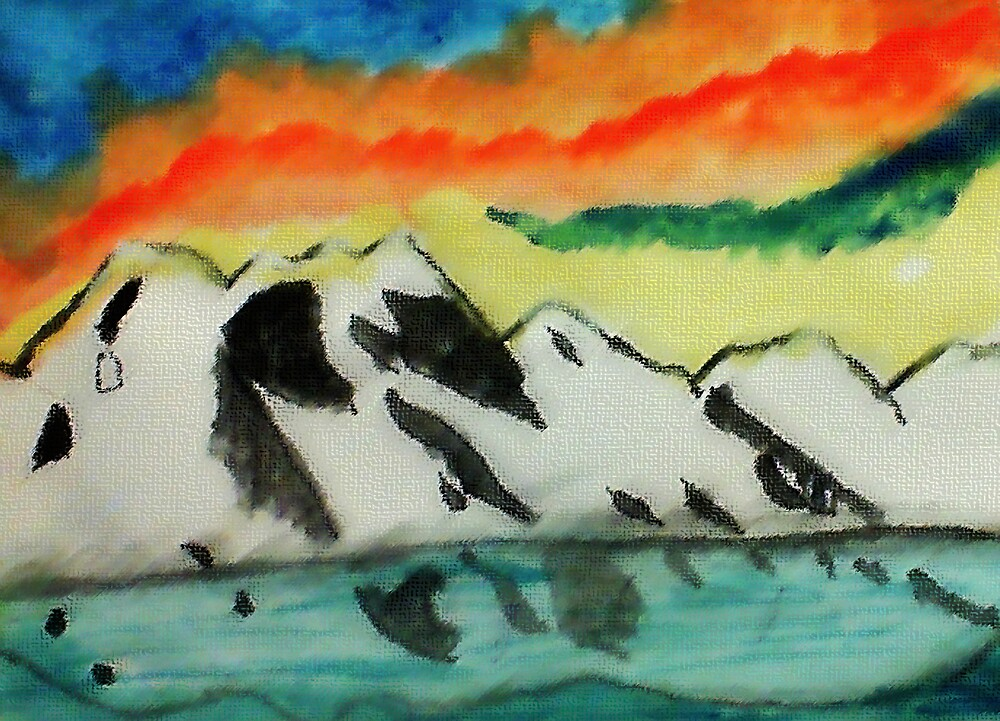 This may warm your heart on a cold night, watercolor by Anna  Lewis, blind artist
