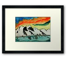 This may warm your heart on a cold night, watercolor Framed Print