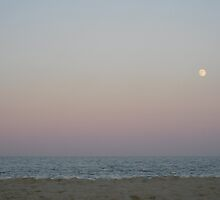 Dewey Beach Moonrise by Lucy Albert