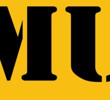 MU Oval Logo Sticker