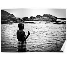 Man Bathing in Three Seas Poster