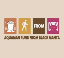Aquaman runs from Black Manta by christanski