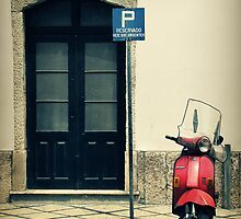 Red Vespa by Caroline Fournier