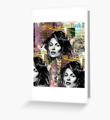 kate moss and biggie Greeting Card