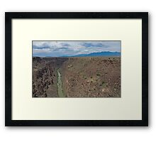 Magnificent Rio Grande Gorge in New Mexico Framed Print