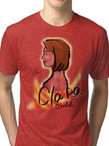 Clara Oswald Cute Short Hair - Angelic Tri-blend T-Shirt