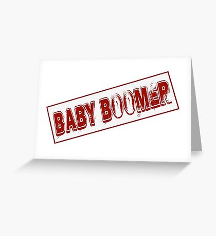 Baby Boomer Stamp Greeting Card