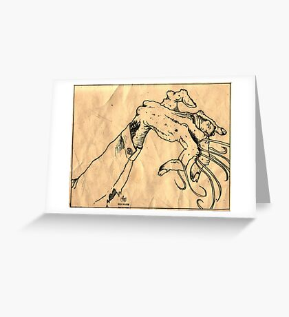 Zombie Meme on Crumpled Paper Greeting Card