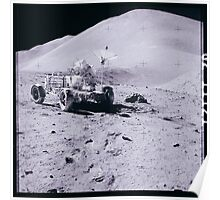 Apollo Archive 0076 Moon Rover on Lunar Surface Poster