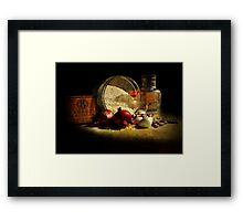 Cooking Cajun Framed Print