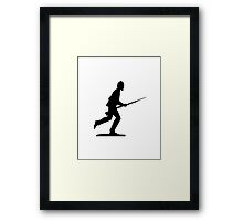 Charging the Position Framed Print
