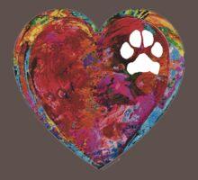 Dog Art - Puppy Love 2 - Sharon Cummings Baby Tee