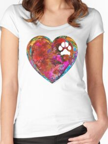 Dog Art - Puppy Love 2 - Sharon Cummings Women's Fitted Scoop T-Shirt