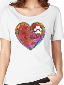 Dog Art - Puppy Love 2 - Sharon Cummings Women's Relaxed Fit T-Shirt