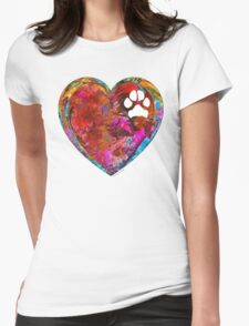 Dog Art - Puppy Love 2 - Sharon Cummings Womens Fitted T-Shirt