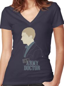 Ex-Army Doctor Women's Fitted V-Neck T-Shirt