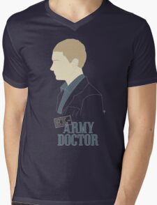 Ex-Army Doctor Mens V-Neck T-Shirt