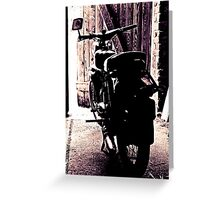 Schwalbe of the manufacturer Simson - Study 10 Greeting Card