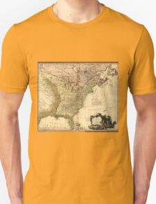 The United States of North America Map (1784) Unisex T-Shirt