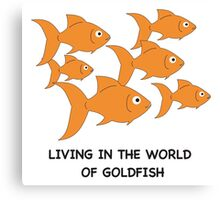 Living in the World of Goldfish #2 Canvas Print