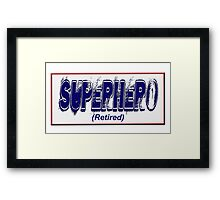 Superhero (Retired) Framed Print