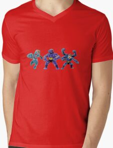 Pokemon - Machop, Machoke, Machamp Mens V-Neck T-Shirt