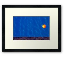 The Yellow Ball Framed Print