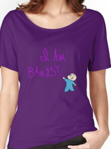 Banksy and the purple crayon Women's Relaxed Fit T-Shirt