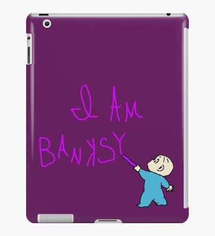 Banksy and the purple crayon iPad Case/Skin