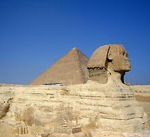 Egyptain Pyramids and Sphinx by tom2u455