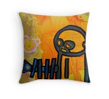 """""""Stabbed in the Eye from Behind"""" Throw Pillow"""