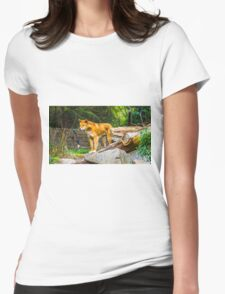 Dingo on the Alert Womens Fitted T-Shirt