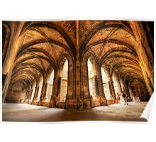 Cloisters of the Narbonne Cathedral Poster
