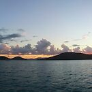 Sunset at Cid Harbor, Whitsunday Islands by Alexey Dubrovin