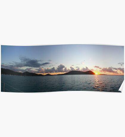 Sunset at Cid Harbor, Whitsunday Islands Poster