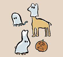 ghost animals and a pumpkin Unisex T-Shirt