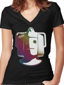 Cyberman - Rainbow Women's Fitted V-Neck T-Shirt