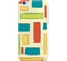 Bright, happy colored rectangles iPhone Case/Skin