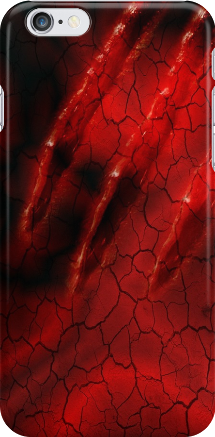 Red Ghoulish Claw iPhone & iPad by patjila