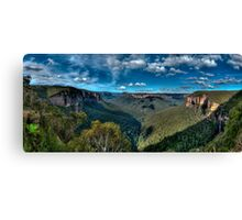 Grose Valley panorama, Blue Mountains Canvas Print