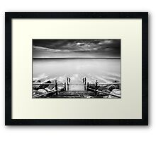 The Lure of The Sea BW Framed Print