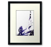HALO | Blue Aura Framed Print